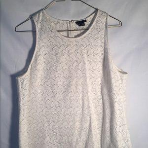 Theory sleeveless lace top